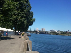 Portland's Waterfront Park, on a non-MusicFest day.