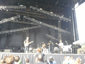 The Thermals up on the main stage, and deservedly so.