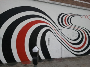 Figure 8 mural, 4334 W. Sunset Blvd.