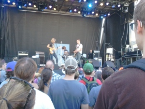 Aimee Man and Ted Leo had easily the best stage banter of the festival